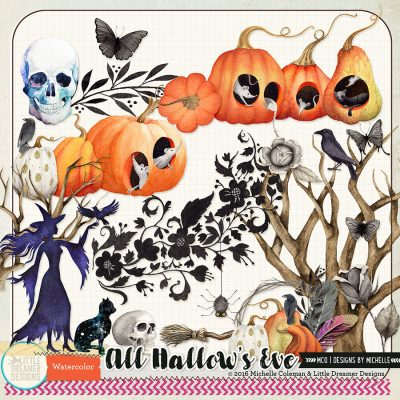 All Hallow's Eve Watercolor