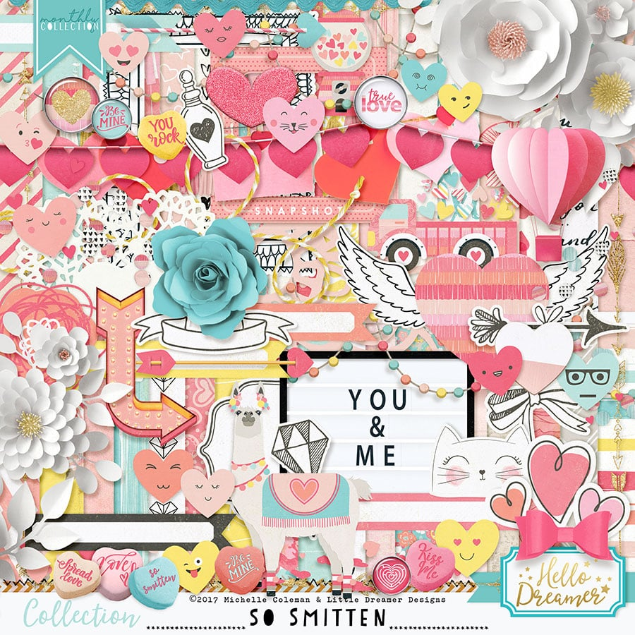 Digital scrapbooking paper and embellishments